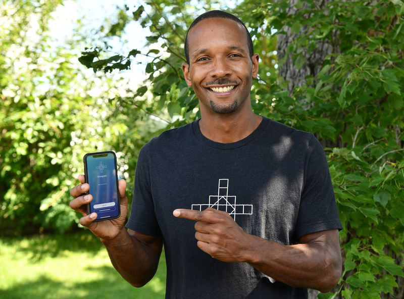 Otha Smith III, a Bowie resident, has founded an app called Tetragram to help cannabis users journal which strains work for them. (Paul W. Gillespie/Capital Gazette)